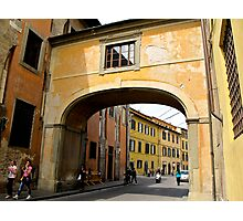 arch in coloured building  Photographic Print