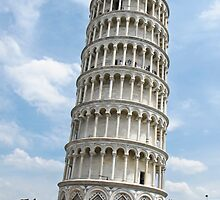 leaning tower of Pisa by Anne Scantlebury