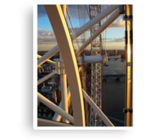 View from London Eye (Millenium Wheel). London. UK Canvas Print