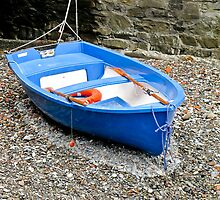 blue dinghy by Anne Scantlebury