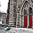 Help Me Lord (Homeless Man on the Steps of the Church) by Jane Neill-Hancock