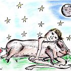 'Goodnight Elisabeth' -Pig Love by SarahParsonsArt