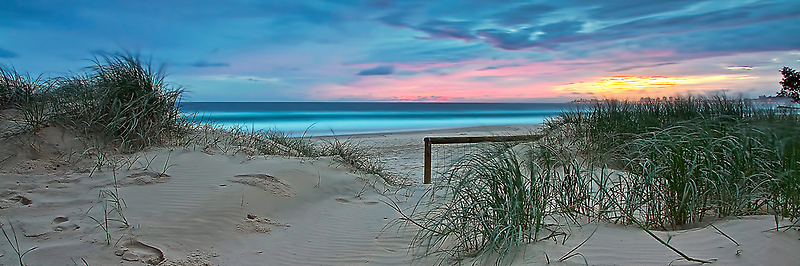 Currumbin Beach Sunrise - Panorama by Maxwell Campbell