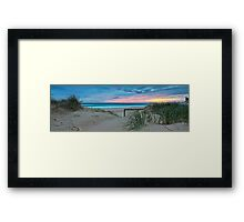 Currumbin Beach Sunrise - Panorama Framed Print