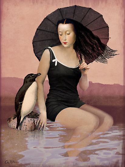 On the beach by Catrin Welz-Stein