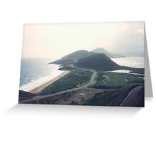 Aerial View, St. Kitts, Caribbean Greeting Card
