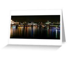 London skyline by night Greeting Card