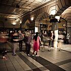 Flinders Street Station near peak hour by Andrew Wilson