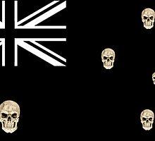 Australian Skull Flag by Euroz