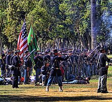 Union soldiers in action by lejudge