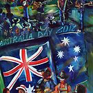 Australia Day at the Courthouse Hotel 2012 by robert (bob) gammage