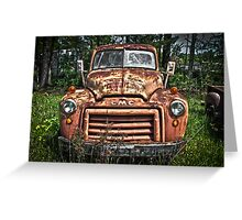 Curvaceous Flatbed Greeting Card