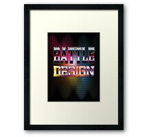 Battle Design Framed Print