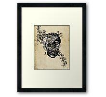 skull crystallisation Framed Print