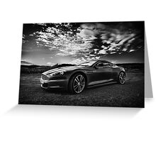 Aston Martin DBS - Mono Greeting Card
