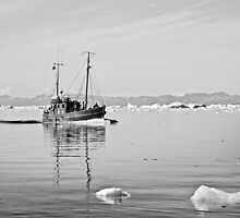 Greenland - Fishing boat on tourist charter by Derek  Rogers