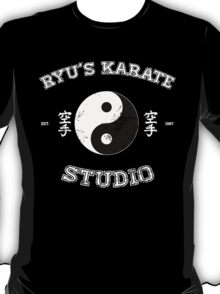 Ryu's Karate Studio - Black Version T-Shirt