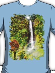 Waterfall - Digital Art Painting T-Shirt