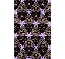 Purple Stars Photographic Print