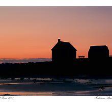 Fisherman Shacks Sunrise by Richard Bean