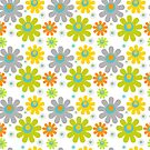 green and yellow daisies on white by nadil