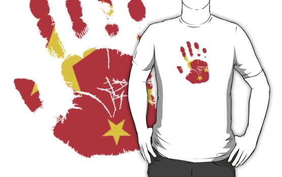 Flag Handprint - China by SkinnyJoe