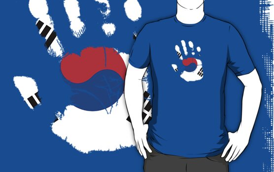 Flag Handprint - South Korea by SkinnyJoe