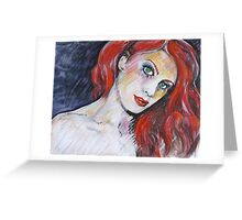 Mascara  Greeting Card