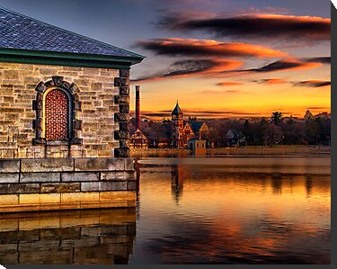 Sunset at Waterworks Museum by LudaNayvelt