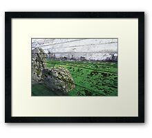 Stone & Wood Framed Print