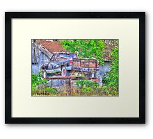 Closed for lunch Framed Print