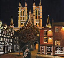 The Cathedral the kiss and the harvest Moon by Chris-Cox