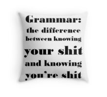 Grammar: The Difference Between Your and You're Throw Pillow