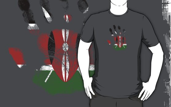 Flag Handprint - Kenya (Faded) by SkinnyJoe