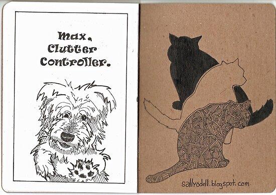 Max & Three Cats by Sally O'Dell