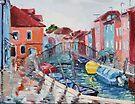 Rainy Day on the Island of Burano (Venice, Italy) by Juliane Porter