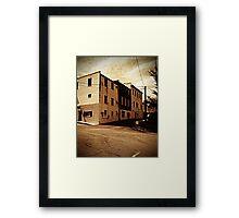Corner in Mars Hill Framed Print