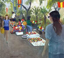 Fiesta Sidewalk by Peter Worsley