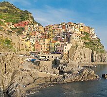 clifftop Manarola by Anne Scantlebury
