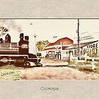 Coominya Train Crossing circa 1950's by MaureensArtz