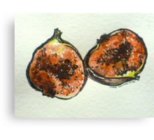 Figs: halved. Pen and wash. 2012. Ⓒ Canvas Print
