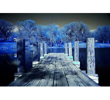 Infrared Dock Photographic Print