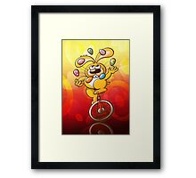Easter Bunny Juggling Eggs Framed Print