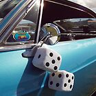 Double Dice 5x5 Classic Car fuzzy white by Vicktorya Stone