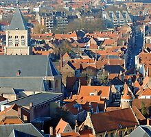 Bruges rooftops  by Tony Jones