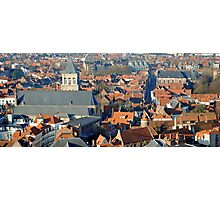 Bruges rooftops  Photographic Print
