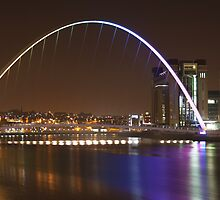 Millenium Bridge & Baltic by Adam Webb