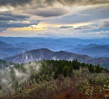 Blue Ridge Parkway Scenic Landscape Photography - Blue Ridge Blues by Dave Allen