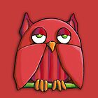 Red Owl red iPhone Case by mrana