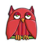 Red Owl iPhone Case by mrana